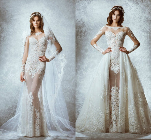Fashionable Zuhair Murad 2015 Long Sleeve Lace Wedding Dresses with ...