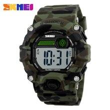 SKMEI Temps Parlant Numérique Montres Hommes Électronique LED Sport Montres Alarme de Musique Horloge Militaire Mode Casual Montre 1162