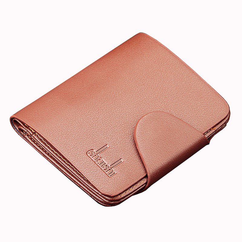 Casual PU Leather Men Short Hasp Wallet Money Carteira Masculina Coin Portf Purse Card Holder Pocket Clutch Male Pouch Bag levelive mens genuine leather hasp zipper wallets men real cowhide wallet coin pocket card holder male purse carteira masculina