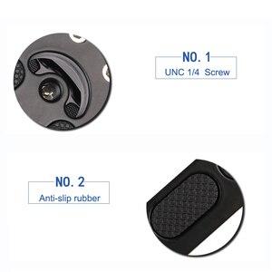 Image 4 - Kaliou fotoğraf stüdyosu aksesuarları El Kavrama Destek Quick Release Plaka L Kavrama L Plaka Braketi Camfi için Kamera
