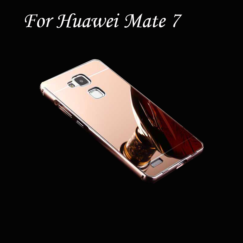 For Huawei Mate 7 Case 2 in 1 Metal Aluminum Bumper Frame +PC Cover For Huawei Ascend Mate7 +Screen Gift Funda Coque Capinha