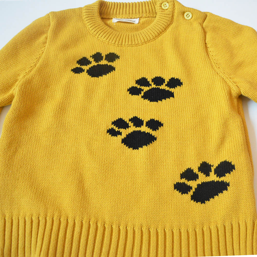 QUIKGROW-Thick-Warm-Baby-Boy-Girl-Sweater-Stylish-Yellow-Long-Sleeve-Cute-Puppy-Dogs-Paws-Pullover-Jumpers-Knitwear-YM07MY-5