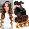 Annabelle Vip beleza cabelo 8A Onda Do Corpo Malásia Ombre Cabelo Humano Weave 3 Bundles T1b/4/27 Na Malásia Ombre Extensões de Cabelo Virgem