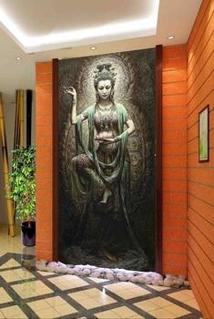 3d room wallpaper custom mural non-woven picture 3d Dunhuang Buddha dance  porch painting photo 3d wall murals wallpaper