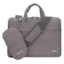 15 inch Laptop Bag Notebook Shoulder Messenger Bag Men Women Handbag Sleeve (Suit Light Gray)