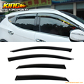 For 15-16 Lexus NX200t  Window Visors Chrome Trim Rain Guard Wind Deflector 4PCS