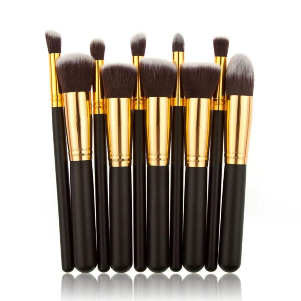 Oval Makeup Brushes 10pcs Make Up Foundation Blending Blush Kuas Mascara Brush Naked Aeproductgetsubject