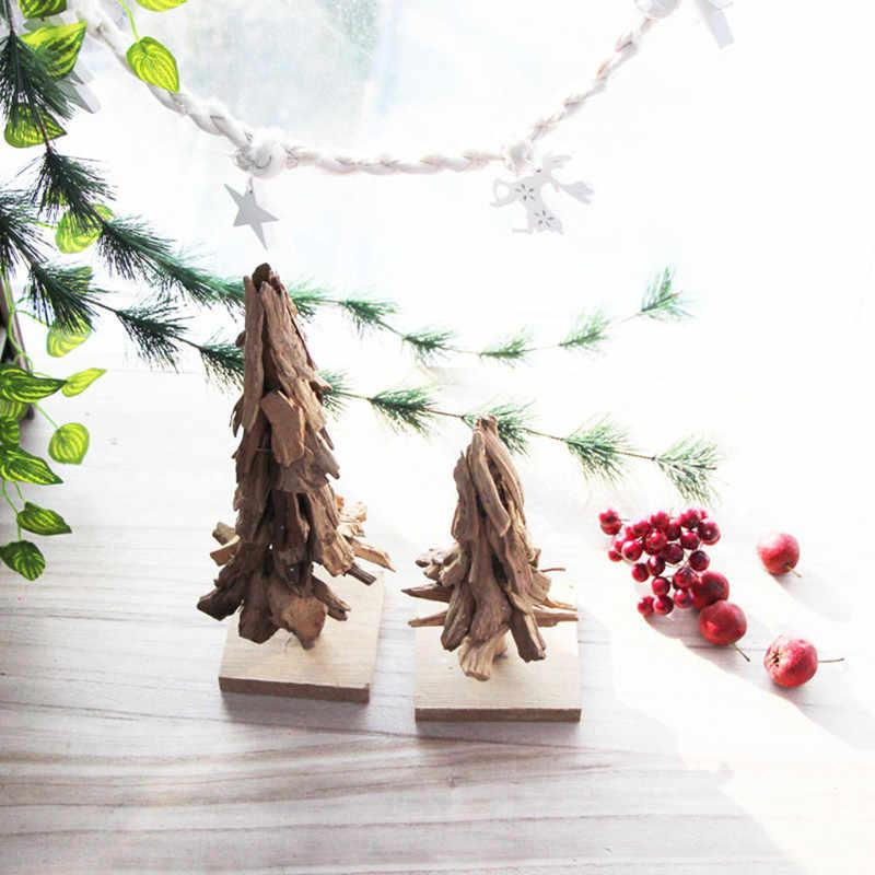 Креативная Деревянная Рождественская елка праздничное украшение из натурального дерева настольные статуэтки для дома/офиса/бара подарок на Новый год