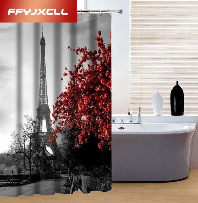 180x180 cm Classic Torre Eiffel 3D Productos Creativos de Poliéster Impermeable