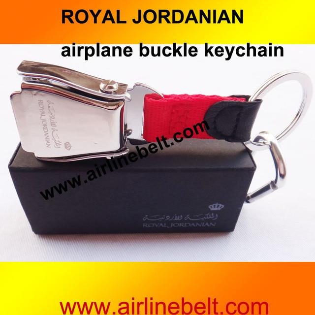 4fc250ed7b6edd Freeshipin Royal Jordanian KLM Emirates airline airplane seat belt buckle  keychain keyring hot selling aircraft buckle