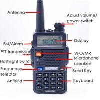 128ch 5w vhf uhf 2pcs Baofeng UV5R מכשיר הקשר מקצועי CB רדיו Baofeng UV5R משדר 128CH 5W VHF & UHF כף יד 5R לציד רדיו (2)