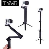 3 Way сцепление водонепроницаемый монопод Selfie Stick для Gopro Hero 5 6 4 Black Session SJ4000 для спортивной экшн-камеры Xiaomi Yi 4K Спортивная Камера штатив-Трипод ...