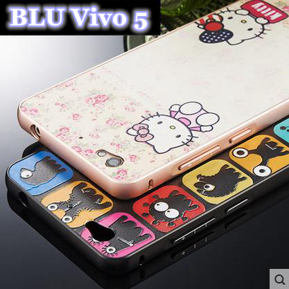 cheaper 8108a 2ab25 US $12.81 |Colourful Alunminum Metal Frame Rim + Acrylic PC Back Board  Bounding Box Covers Shell Case for BLU Vivo 5 Mobile Phone Case on ...