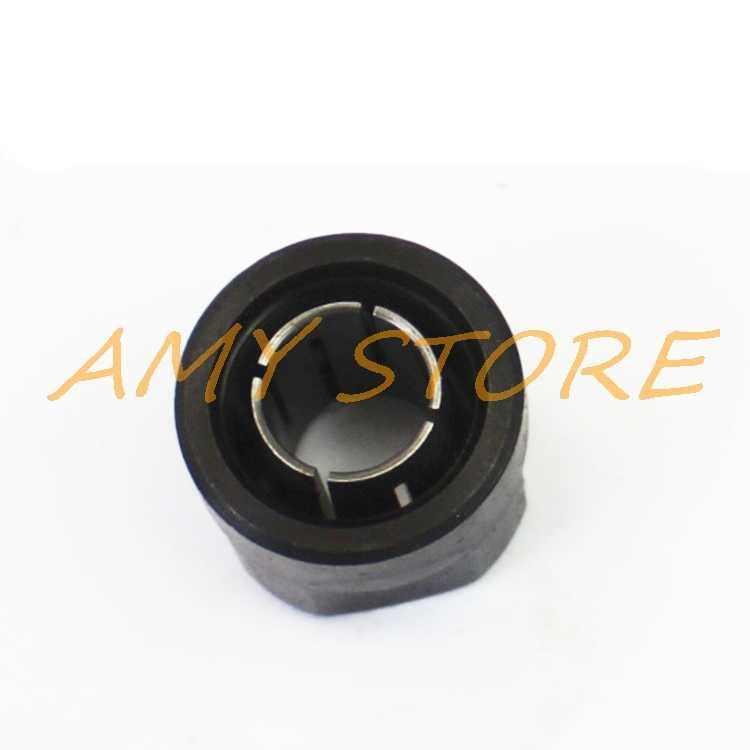 "12,7mm Metal negro 1/2 ""Tuerca Collet paso Router partes para Makita 3612 máquina de grabado máquina de enrutador 20x27mm"
