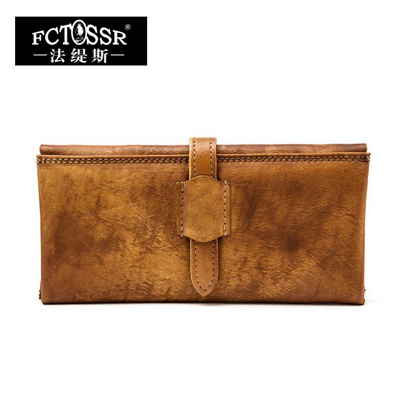 Latest Women Wallet 2018 Handmade Genuine Leather Cell Phone Pocket Lady Clutches Multi Credit Card Holder Retro Long Wallets cossroll brand women wallets genuine leather long thin purse clutches bags cards holder zipper phone pocket lady party wallet