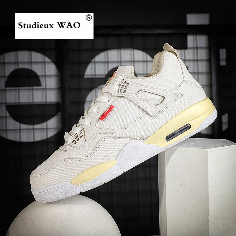 472e8f960 Air Shock Skateboarding Shoes jordan 4 Retro Men Sneakers Skateboard Flat  Leisure Sports Shoe Women All Match Couple Youth Light