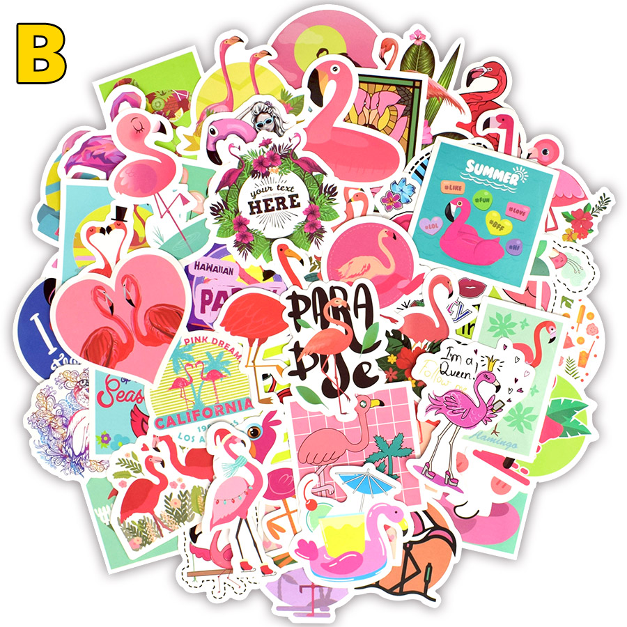 80 100 PCS Anime Stickers Toy For Children Unicorn Flamingo Animal Cartoon Cute Sticker To DIY Skateboard Laptop Suitcase Fridge