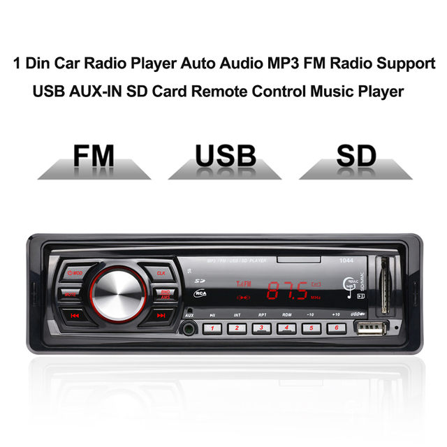 1 din car mp3 player radio tuner auto audio fm modulator. Black Bedroom Furniture Sets. Home Design Ideas