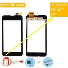 For Nokia Microsoft Lumia 530 N530 RM-1017 Touch Screen Touch Panel Sensor Digitizer Front Glass Outer Lens Touchscreen NO LCD new 4 inch digitizer touch screen for microsoft lumia 435 touchscreen panel replacement parts for lumia 532 free shipping