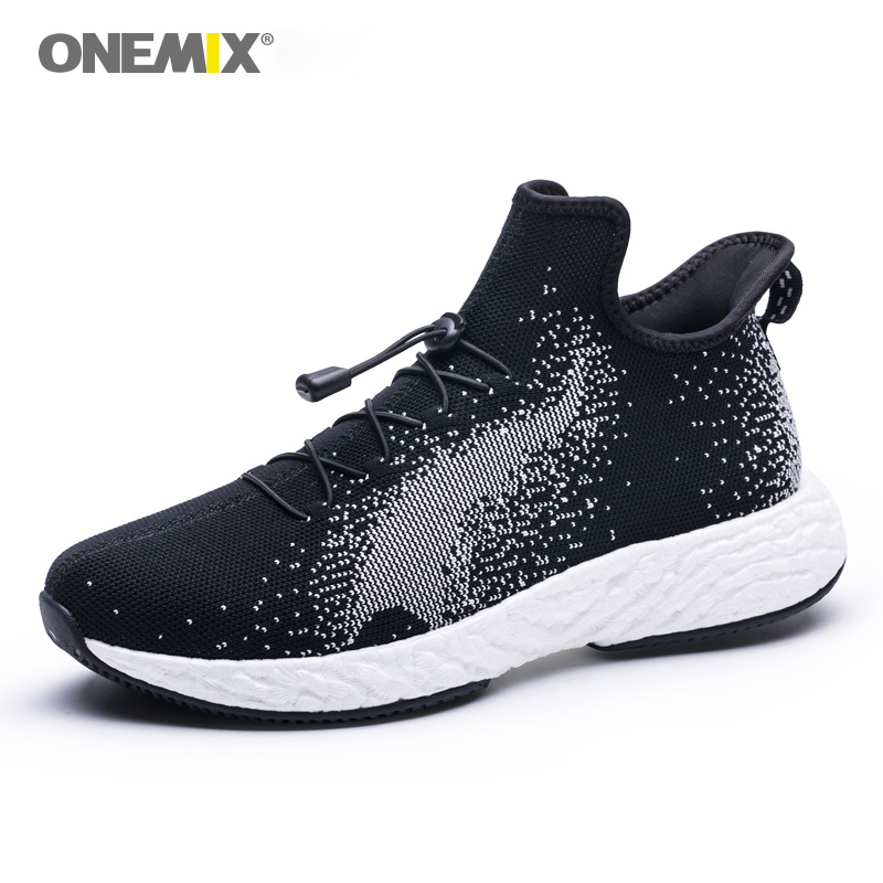Onemix Man Sport Sneakers in Black Outdoor Running Shoes Durable Rubber Out sole Men Sneakers Slip on Walking Loafer Shoes SalesOnemix Man Sport Sneakers in Black Outdoor Running Shoes Durable Rubber Out sole Men Sneakers Slip on Walking Loafer Shoes Sales