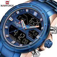 Man Stainless Army Military Wrist Watch NAVIFORCE Luxury Brand Men Watch Fashion Sports Watches Men's Waterproof Quartz Clock