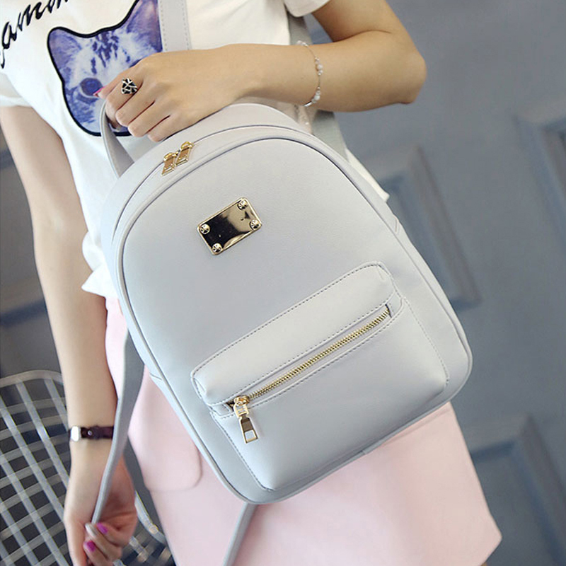 Women Backpack Small Black PU Leather Women's Backpacks Fashion School Girls Bags Female Back Pack Famous Brand mochilas