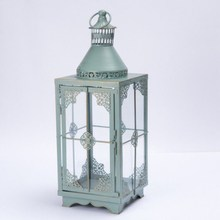 Iron Art Glass Candle Holders Lantern Home Wedding Decoration Film And Television Props Wrought Iron Wind Lamp Candlestick