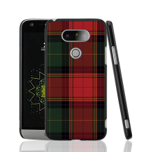 07287 RED BLUE TARTAN SCARF FASHION cell phone protective case cover for LG G5 G4 G3 K10 K7 magna