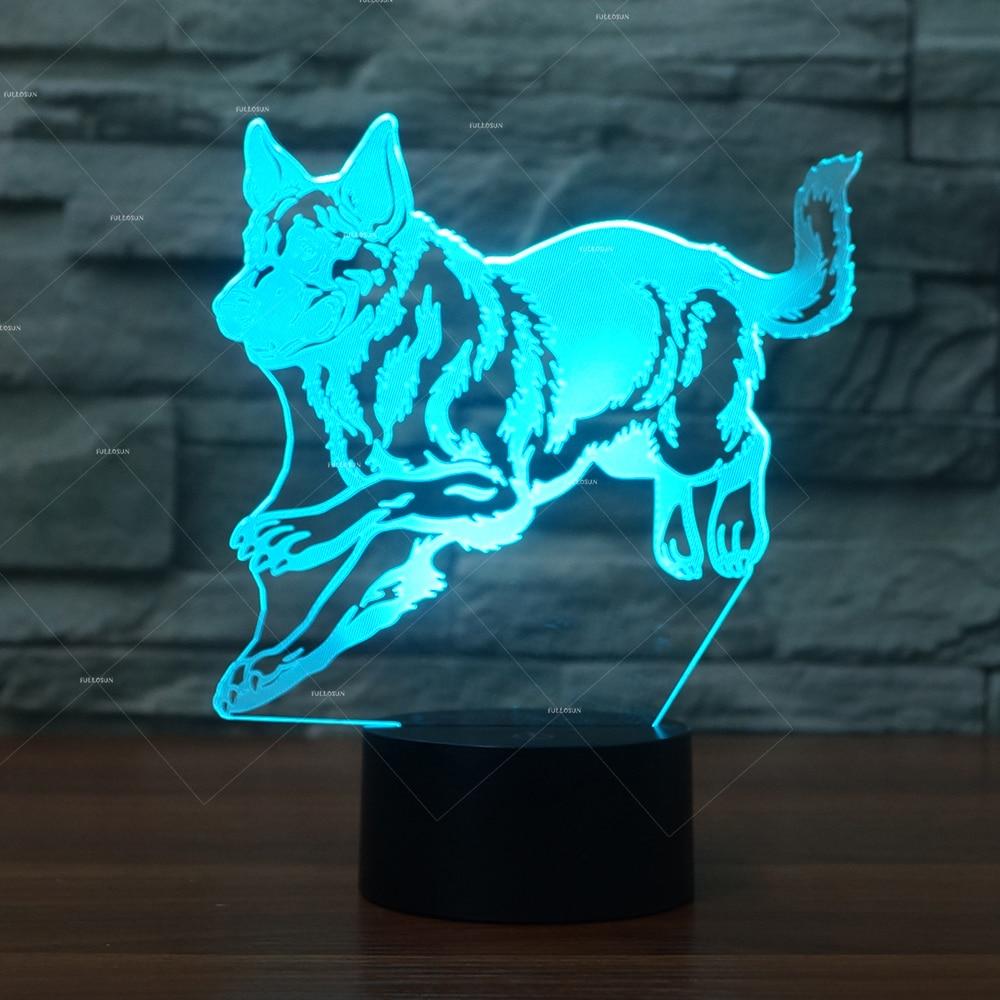 PET Addiction German Shepherd Dog design illusion LED night light Novelty Light as dog gift ideas for dog owners все цены