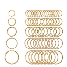 5 шт., 15-38 мм, золотистое металлическое скрепляющее кольцо для книг, брелоки, альбом для скрапбукинга, ремесло, черные Открытые Кольца, офисные кольца для связывания