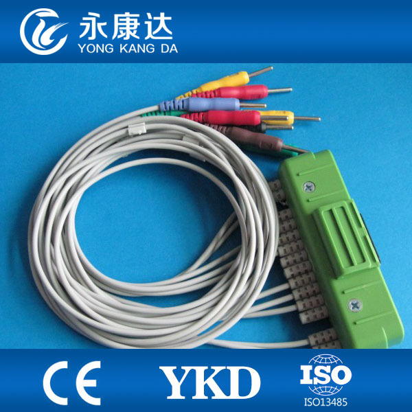 Nihon Kohden ECG-9320 BR-911D One-piece 10 leads ECG EKG Cable and IEC Needle Leadwires 20K Resistance medical TPU Free shippingNihon Kohden ECG-9320 BR-911D One-piece 10 leads ECG EKG Cable and IEC Needle Leadwires 20K Resistance medical TPU Free shipping
