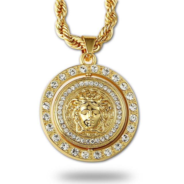 2015 new arrival hip hop gold chain for men 18k cz diamond spin 2015 new arrival hip hop gold chain for men 18k cz diamond spin pendant statement necklace mozeypictures Choice Image