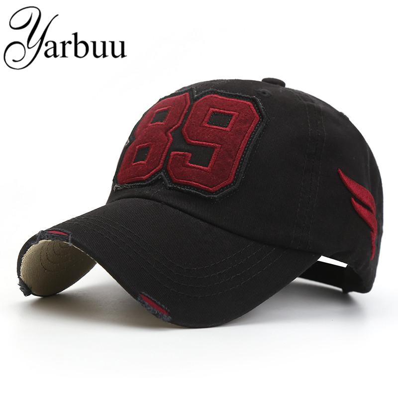 [YARBUU] Baseball caps new fashion good quality solid snapback cap for Embroidery 89 sun hat for men and women free shipping