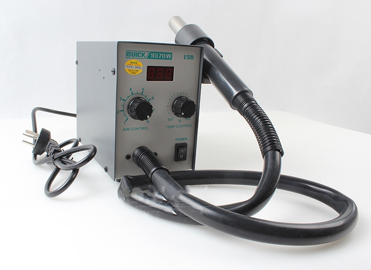 Free shipping Electric hot air gun rework station Crack QUICK 957D  soldering machine rework station with Helical Wind 580W  цены