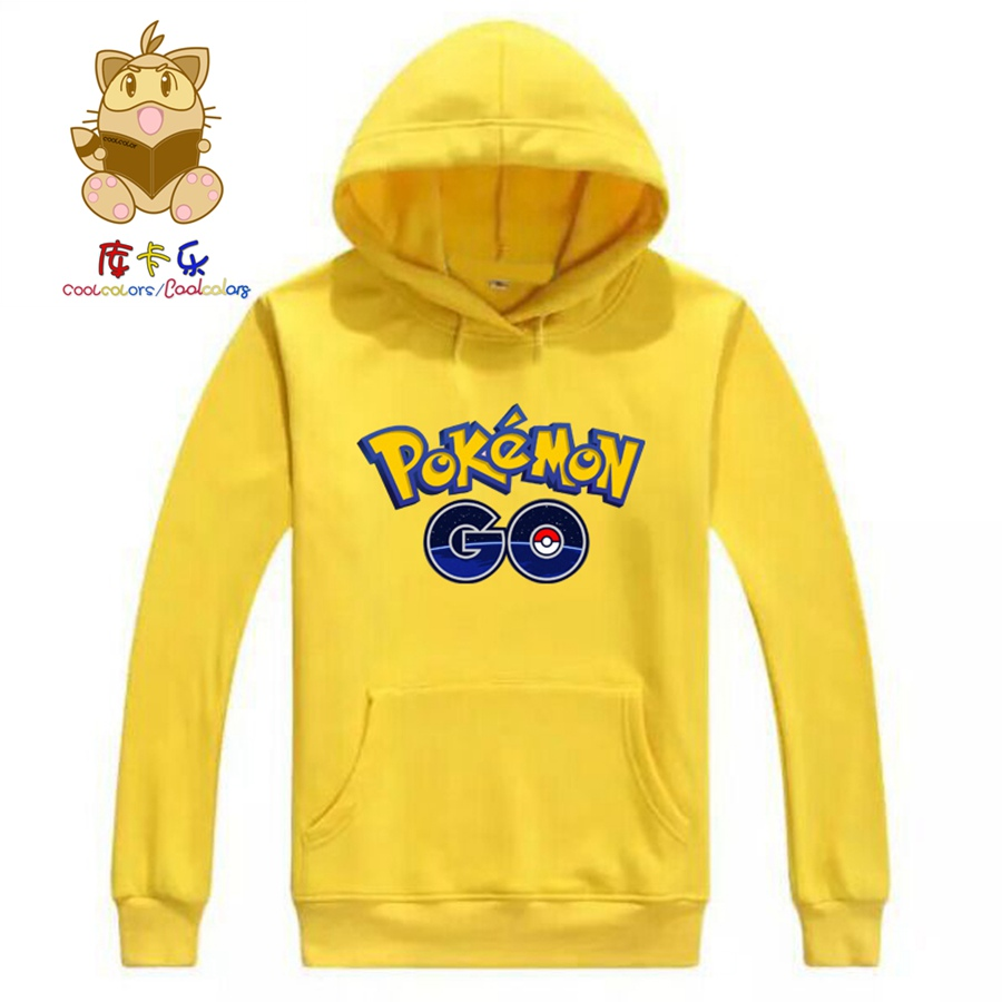 Pokemon Go game fans colorful hoodies high quality warm game fans hoodies Autumn/Winter game fans costume ac186