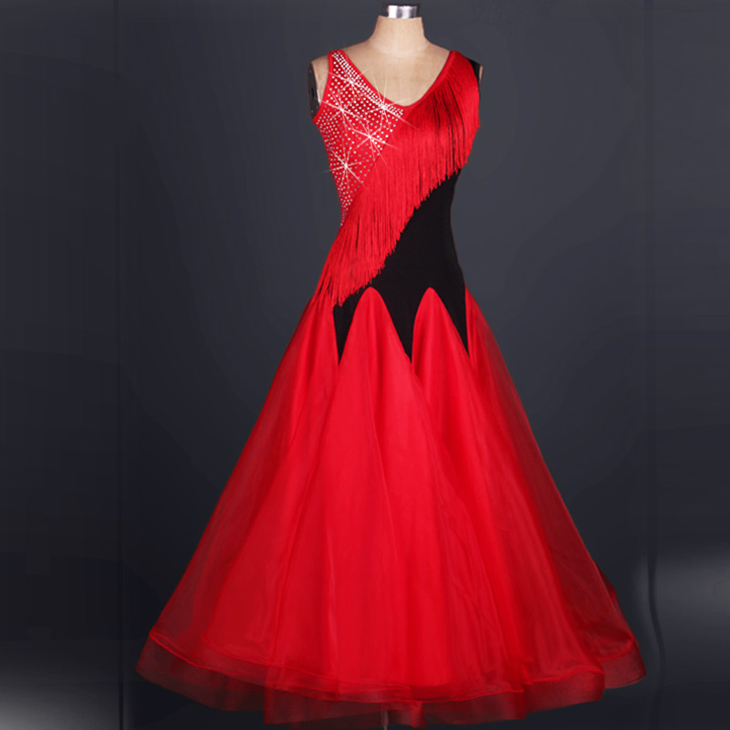 the new tassel waltz dresses2018 ballroom dress abiti ballo standard donna ballroom dance competition dresses the ballroom