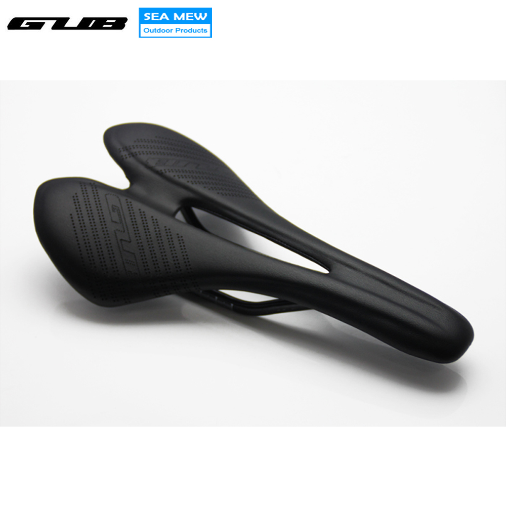 GUB Carbon Fiber bicycle saddle Ultralight Breathable Parts Cycling Bike Saddles For MTB Road Bike Front Seat Mat Black 2016 new come bike saddles black white mountain mtb road bicycle saddle seat hollow design cycling seat cushion breathable parts