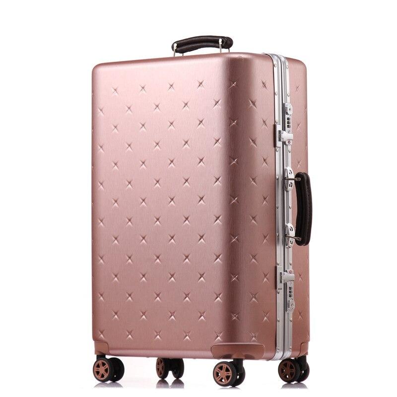 Letrend affaires cadre en Aluminium roulant bagages Spinner valises roues mot de passe chariot 20 pouces cabine voyage sac coffre