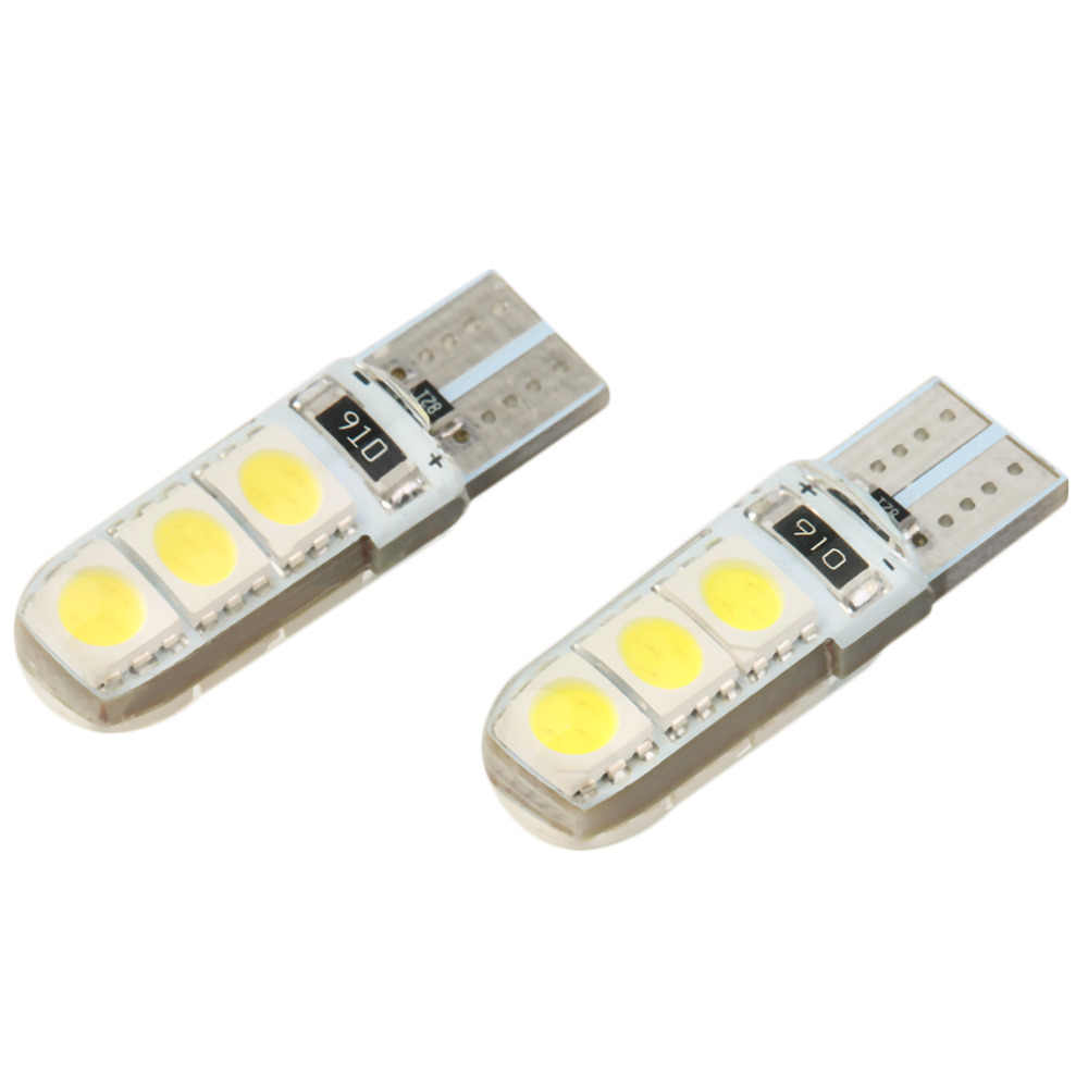 1 Pair Bright Double No Error T10 LED 194 168 W5W Canbus 6 SMD 5050 LED Car Interior Bulbs Light Parking Width Lamps 5W 12V