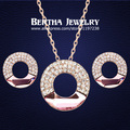 Luxury Elegant Gold Plated Crystal Jewelry Sets Earrings NecklacesWith Swarovski Elements Women Wedding Accessories Top Quality