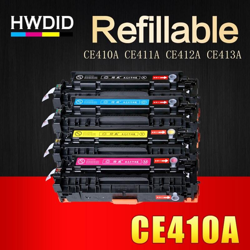 Hwdid 4 шт 305A CE410A CE411A CE412A CE413A совместимый тонер картридж для hp LaserJet Pro 300 M351 M375nw M451nw M475dn M475dw