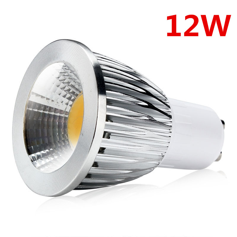 10pcs <font><b>COB</b></font> <font><b>GU10</b></font> <font><b>LED</b></font> Dimmable Spotlight 12W <font><b>GU10</b></font> <font><b>Led</b></font> Lamp GU 10 Spotlight Warm White Bulb Energy Saving