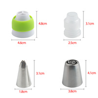 13PCS/Set Russian Tulip Icing Piping Nozzles Pastry Bag Cake Decorating Tips 3D Printer Nozzles For Cream Baking Tools 3