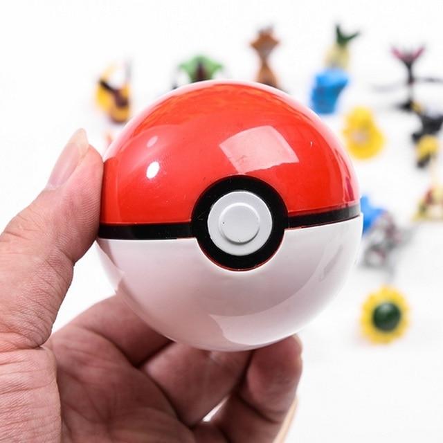 DROPSHIPPING 1Pcs Pokeball + 1pcs Casuale Figura All'interno action figures Giocattoli per i bambini Raffreddare collezione di giocattoli per il Capretto regalo di compleanno 1