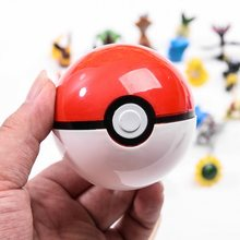 DROPSHIPPING 1Pcs Pokeball+1pcs Random Figure Inside action figures Toys for children Cool collection toys for Kid Birthday Gift(China)