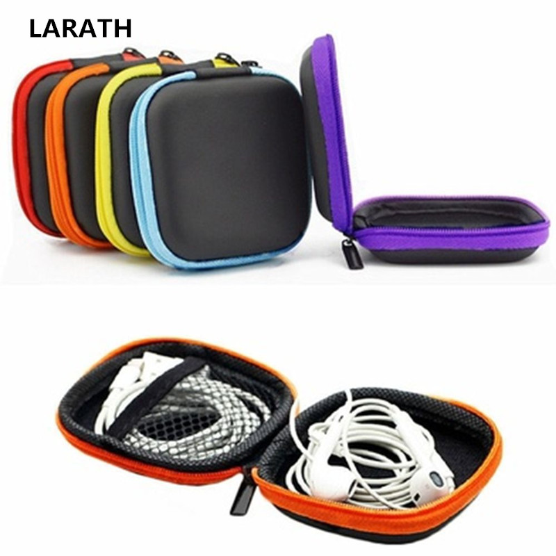 Portable Earphone Cable Earbuds Storage Hard Case Carrying Pouch Bag SD Card Box