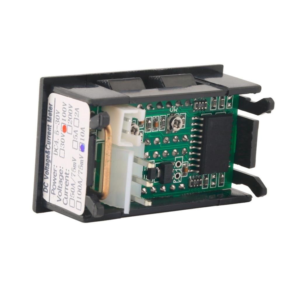 auto voltmetr indikátor napětí ampérmetr voltmetr ampérmetr - Měřicí přístroje - Fotografie 4