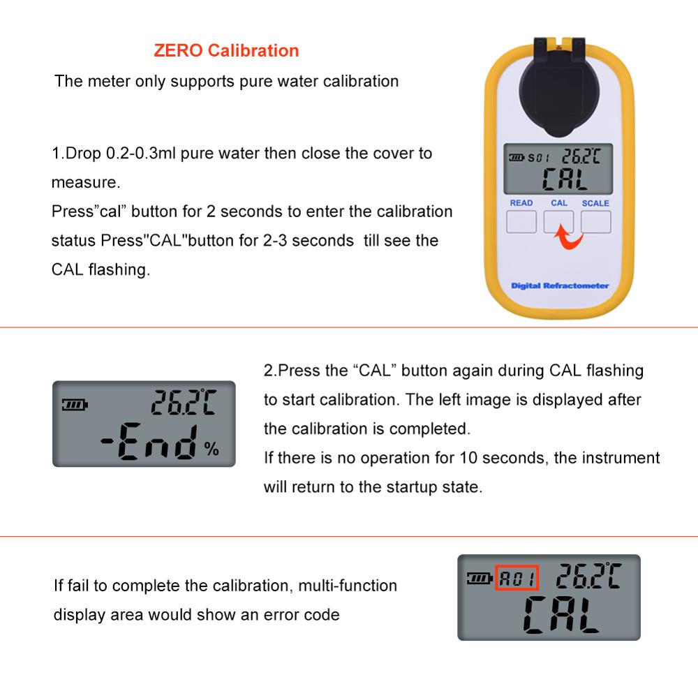 yieryi 0-30% brix TDS 0-25% Coffee Sugar Meter Concentration Refractometer Digital Portable Electronic Refractometer