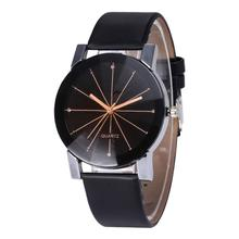 Relogio Feminino Fashion Simple Women Watches Round Dial Linear Women Faux Leath