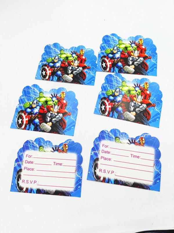1 28 30 De Descuento 10 Piunids Lote Vengadores Invitaciones Niños Cumpleaños Fiesta Favores Los Vengadores Tarjetas De Invitación Feliz Cumpleaños
